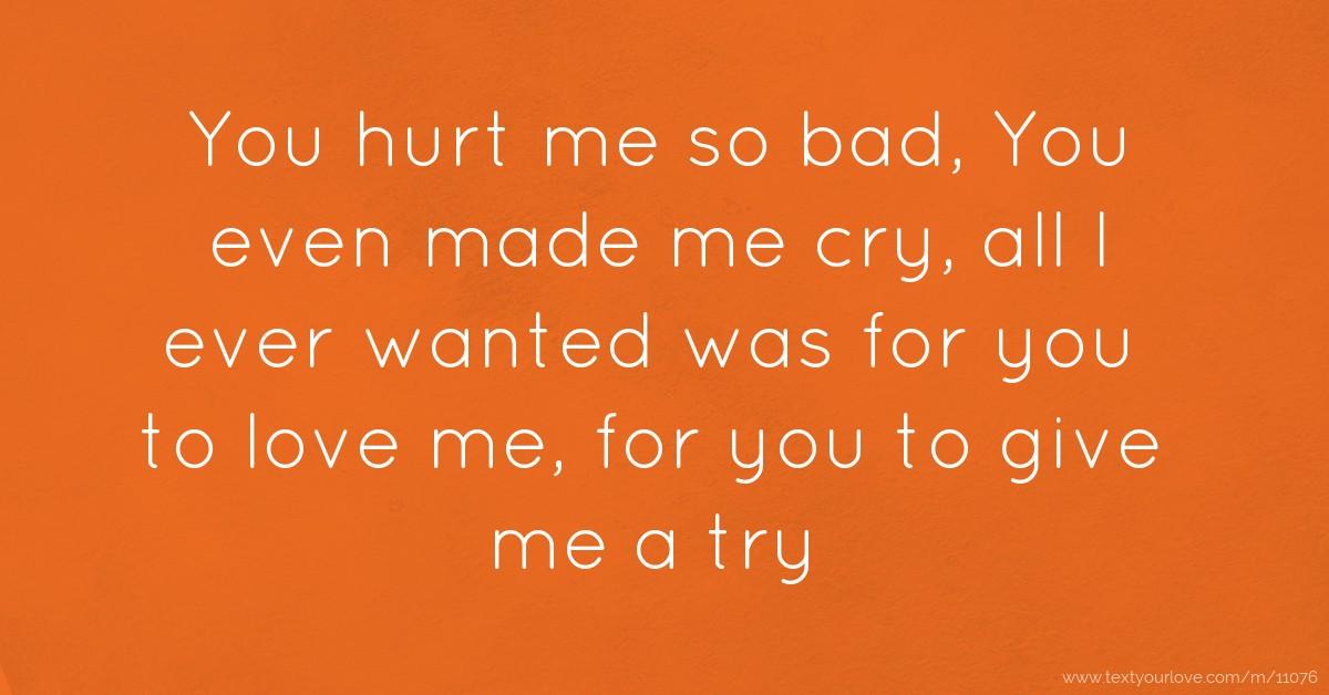 u hurt me quotes images - photo #33
