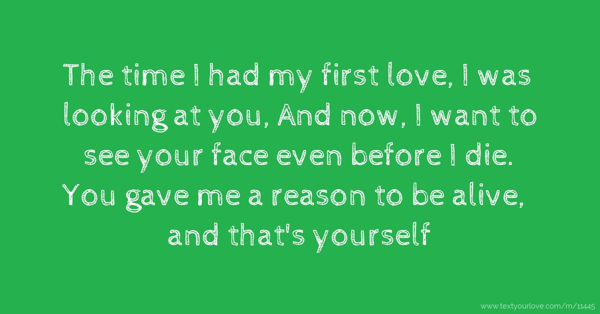 Your my first love quotes