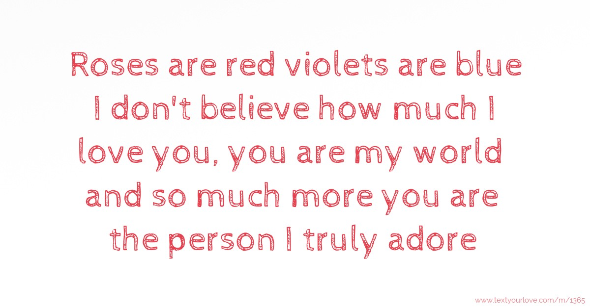 Roses Are Red Violets Are Blue Romantic Quotes