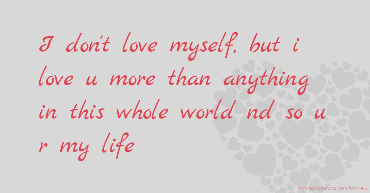 how to love myself more