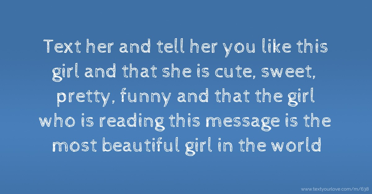 how to tell a girl she is pretty