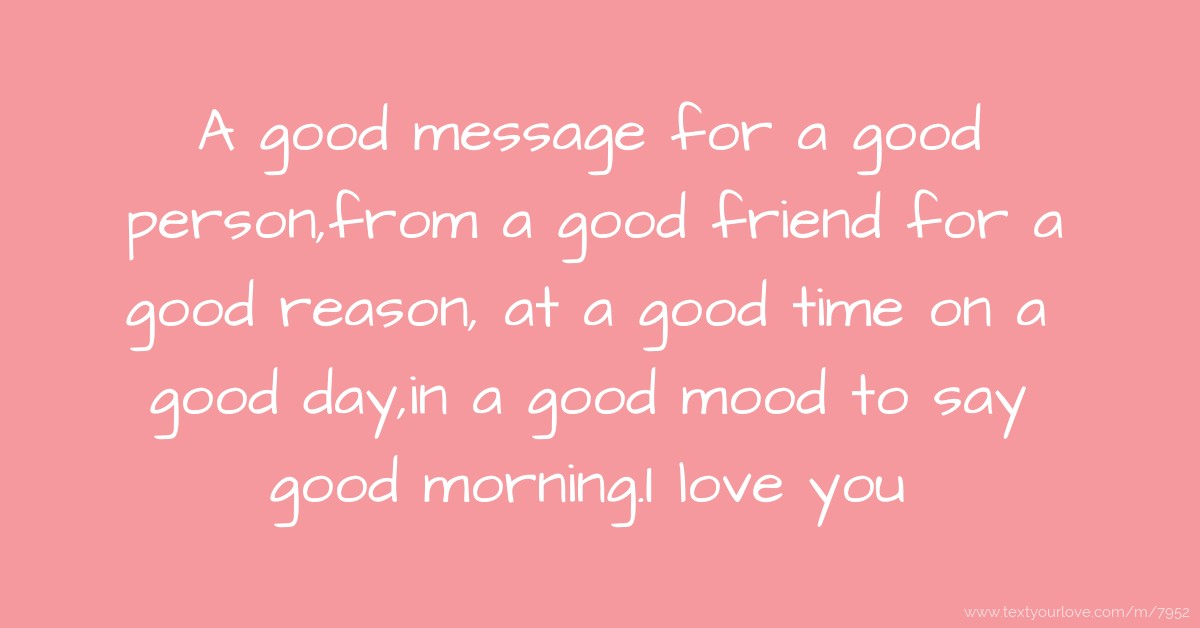 How To Say Good Morning Friend In Korean : A good message for person from friend