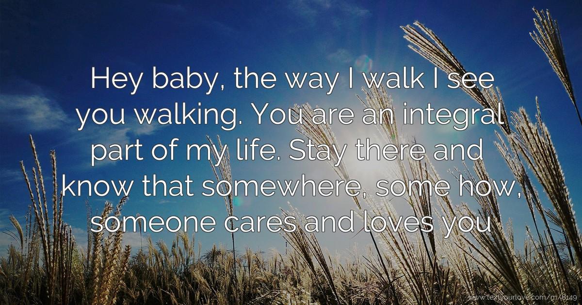 I see you walking my way lyrics