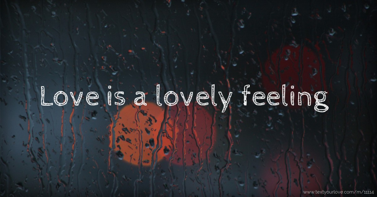 Love is a lovely feeling | Text Message by shubham