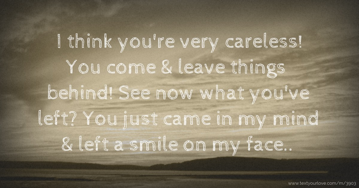 you re the smile on my face