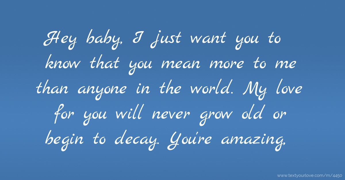 i just want you more