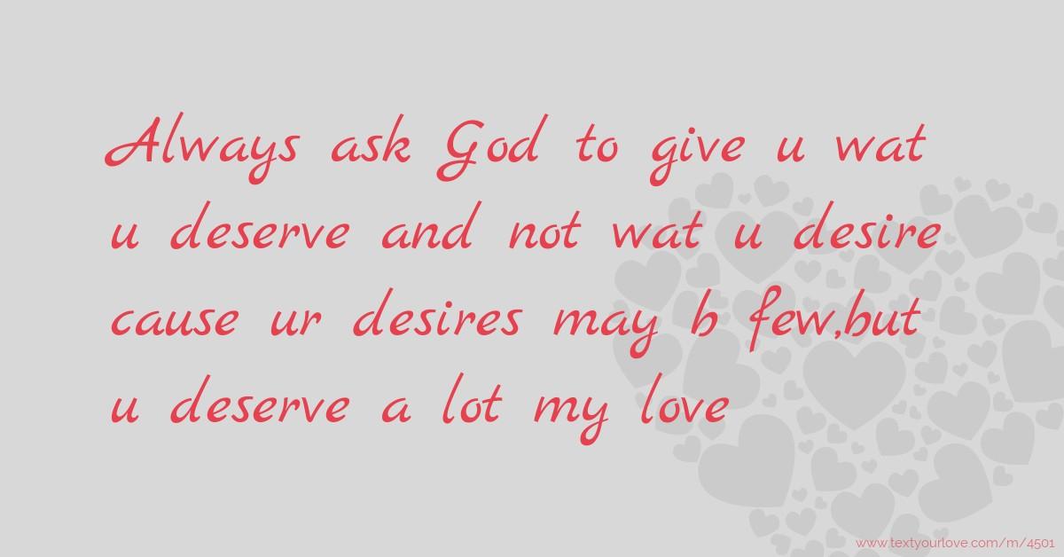 Love my you deserve RENAME