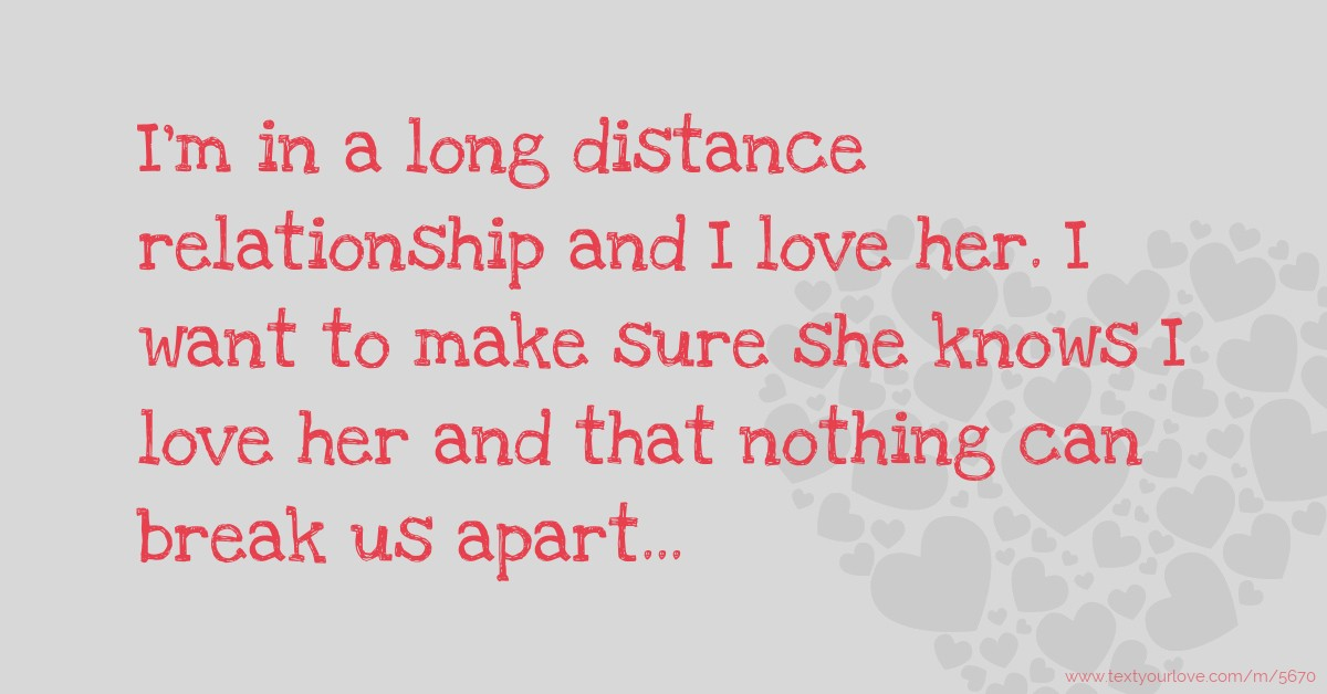 Love Message For A Long Distance Relationship