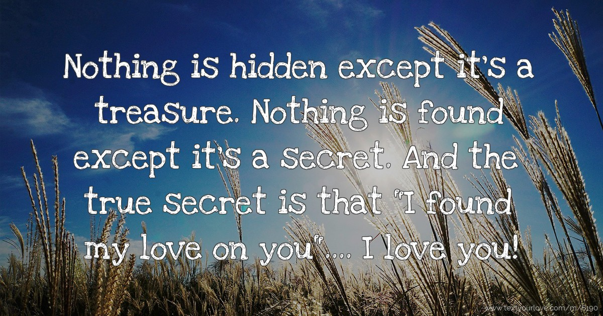 Hidden love messages