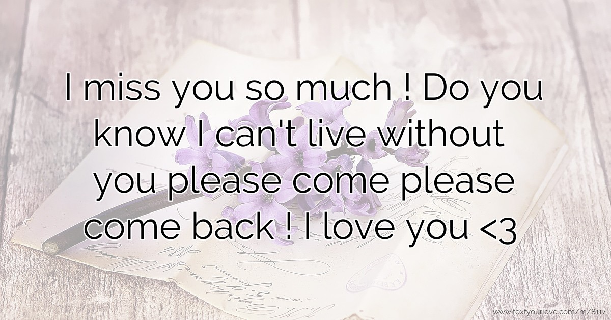 best i miss you text