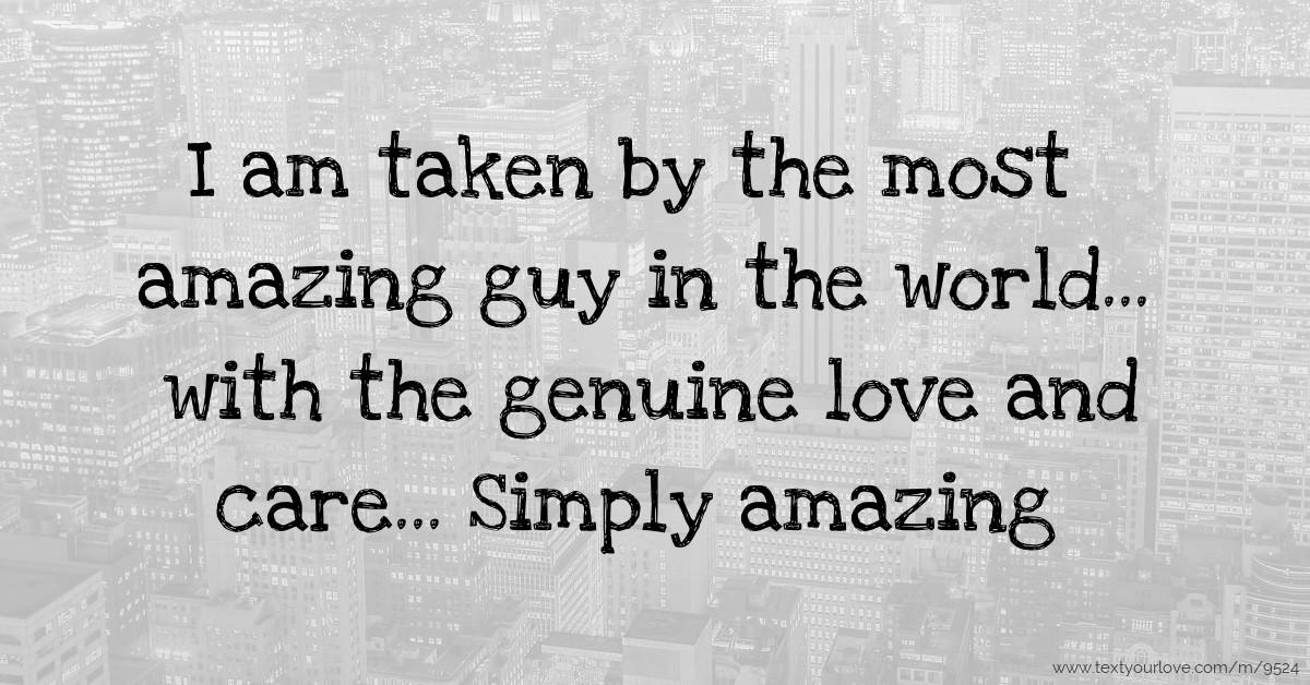 Amazing guy